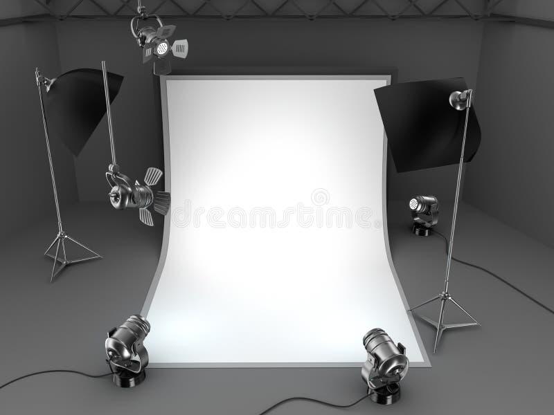 Fotografii wyposażenia pracowniany tło royalty ilustracja