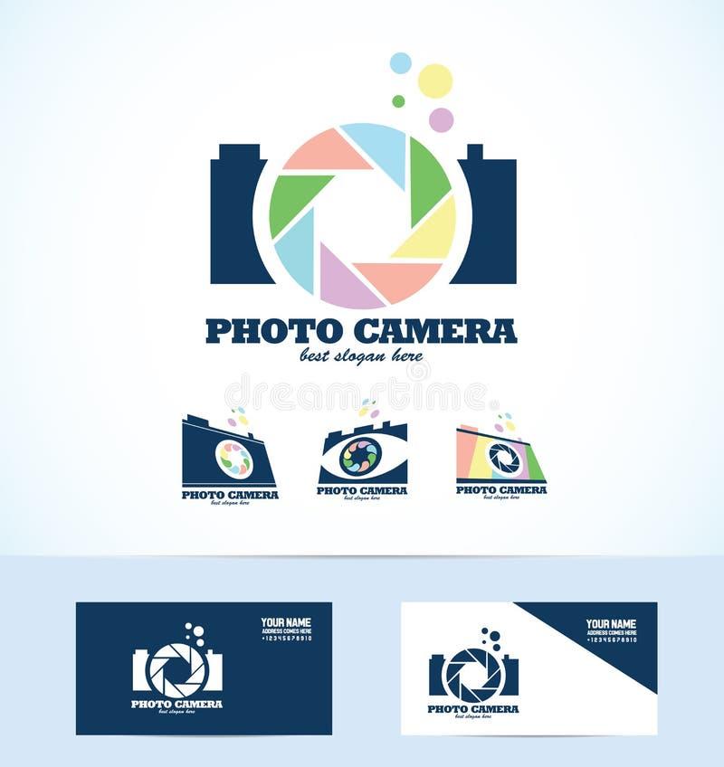 Fotografilogo vektor illustrationer