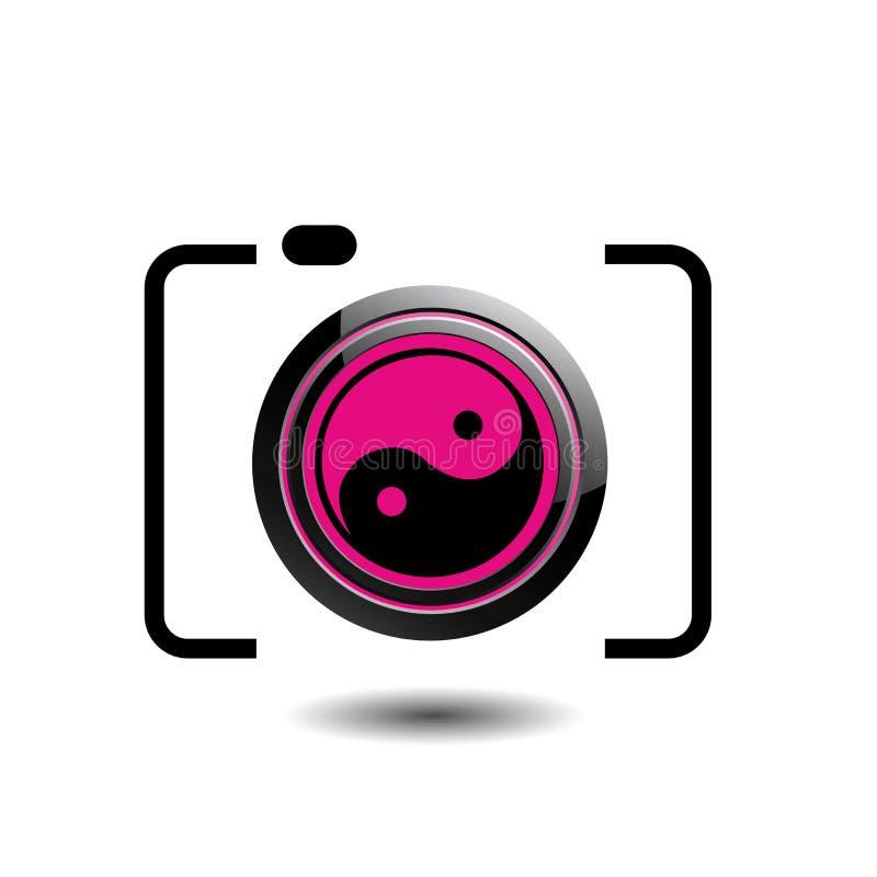 Fotografilogo för Digital kamera stock illustrationer