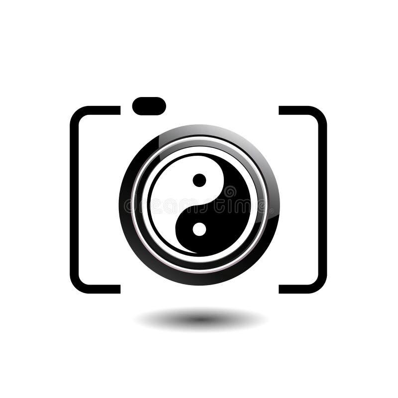 Fotografilogo för Digital kamera royaltyfri illustrationer