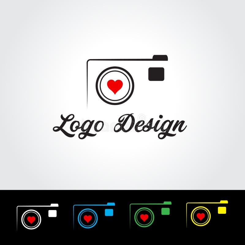 Fotografilogo Logo Vector Illustration royaltyfri illustrationer