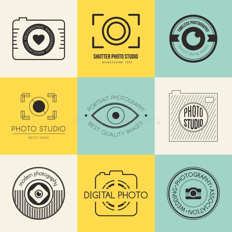 Fotografilogoer stock illustrationer