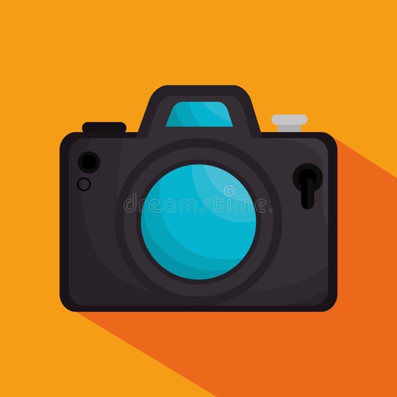 fotografisch camera geïsoleerd pictogram royalty-vrije illustratie