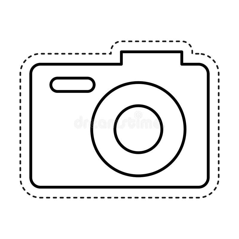 fotografisch camera geïsoleerd pictogram vector illustratie