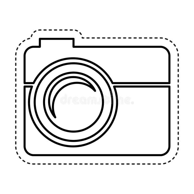 fotografisch camera geïsoleerd pictogram stock illustratie
