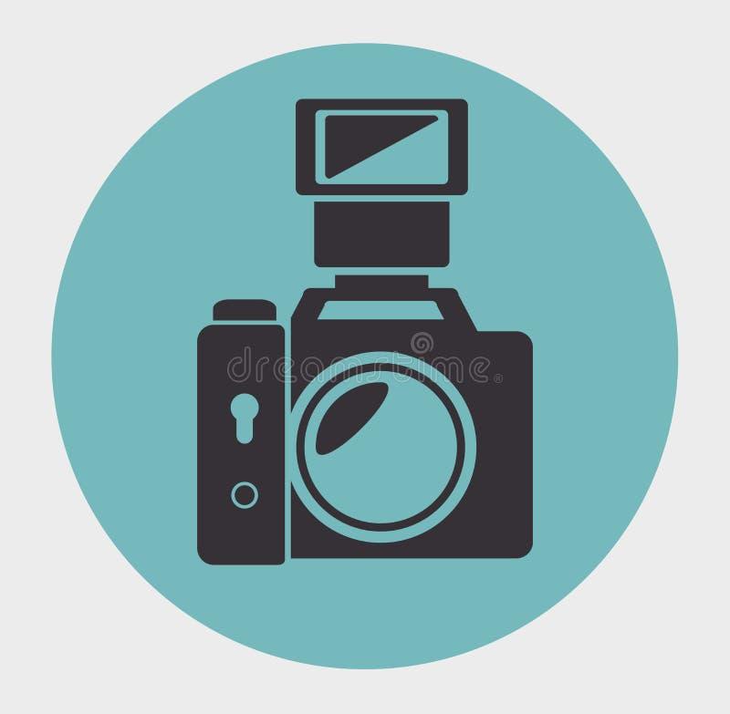 fotografisch cameraontwerp stock illustratie