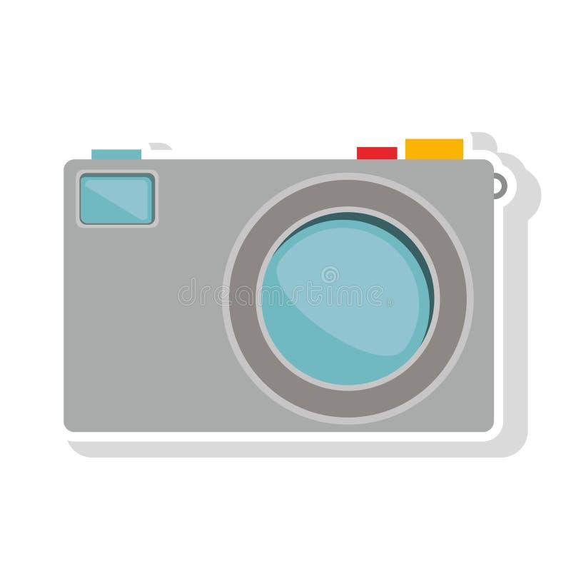Fotografisch camerapictogram royalty-vrije illustratie
