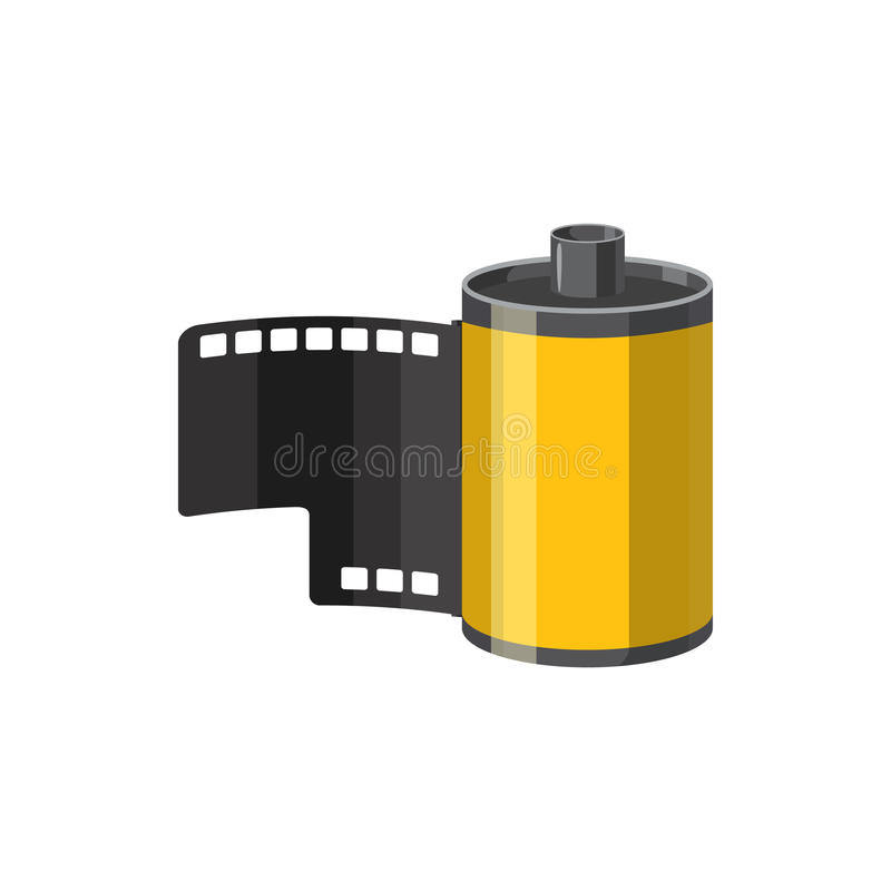 Fotografisch filmpictogram, beeldverhaalstijl stock illustratie
