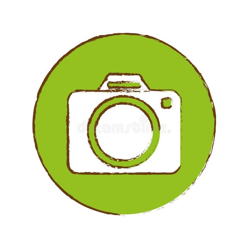 fotografisch het pictogrambeeld van de cameraduimnagel vector illustratie