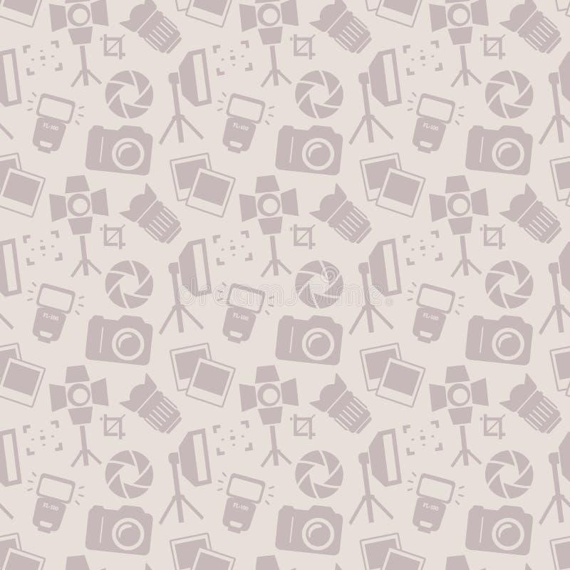 Fotografisch naadloos patroon Het kan voor prestaties van het ontwerpwerk noodzakelijk zijn vector illustratie