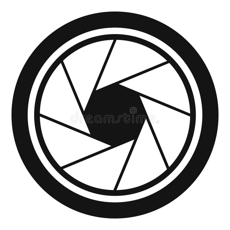 Fotografisch objectief pictogram, eenvoudige stijl vector illustratie