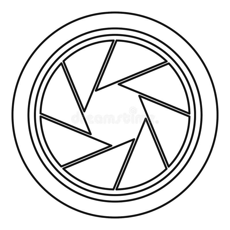 Fotografisch objectief pictogram, overzichtsstijl royalty-vrije illustratie