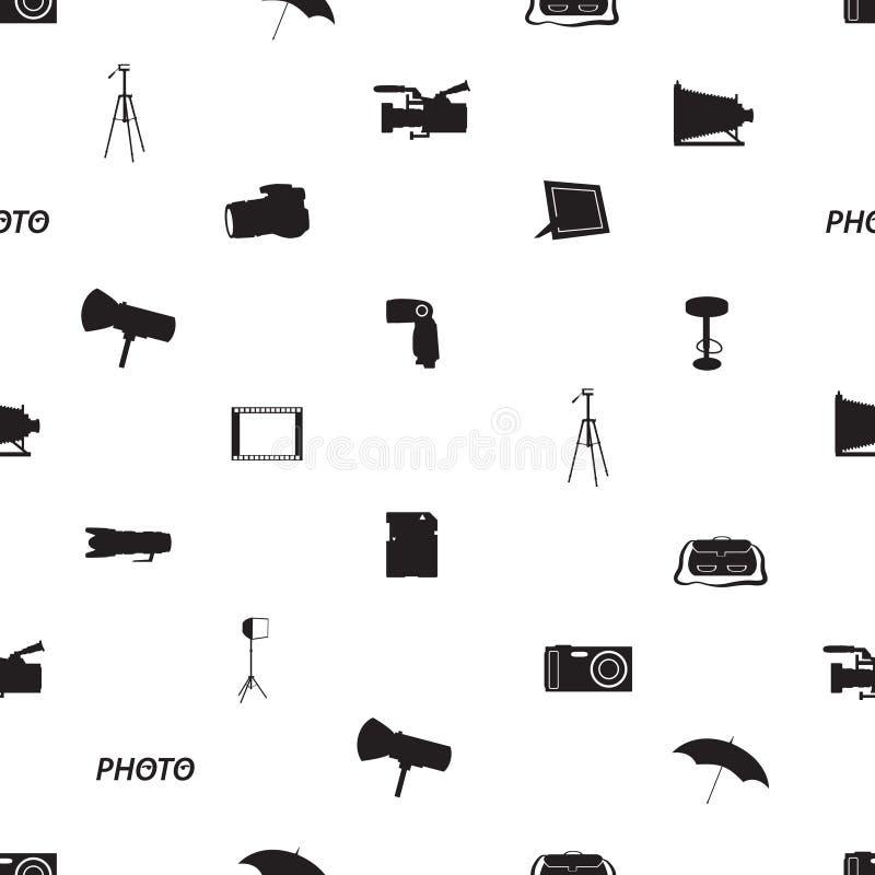 Fotografisch pictogrampatroon eps10 vector illustratie