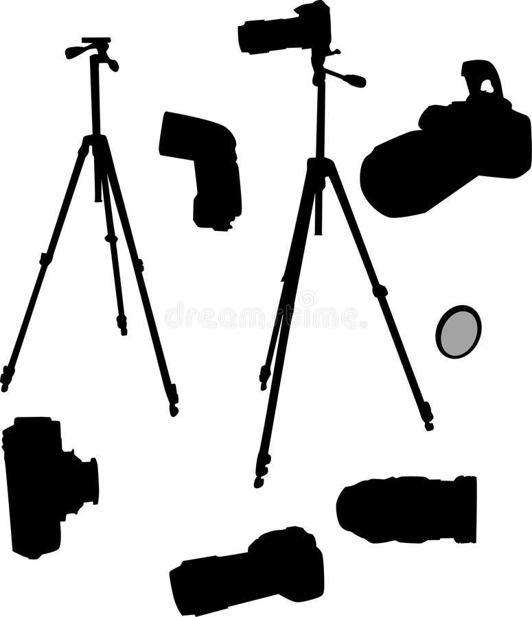 Fotografisch vastgesteld silhouet stock illustratie