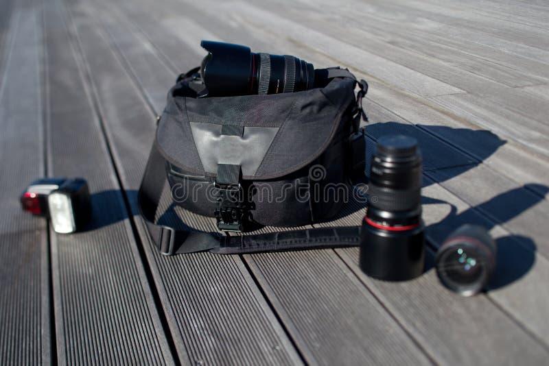 Fotografische apparatuur royalty-vrije stock afbeeldingen