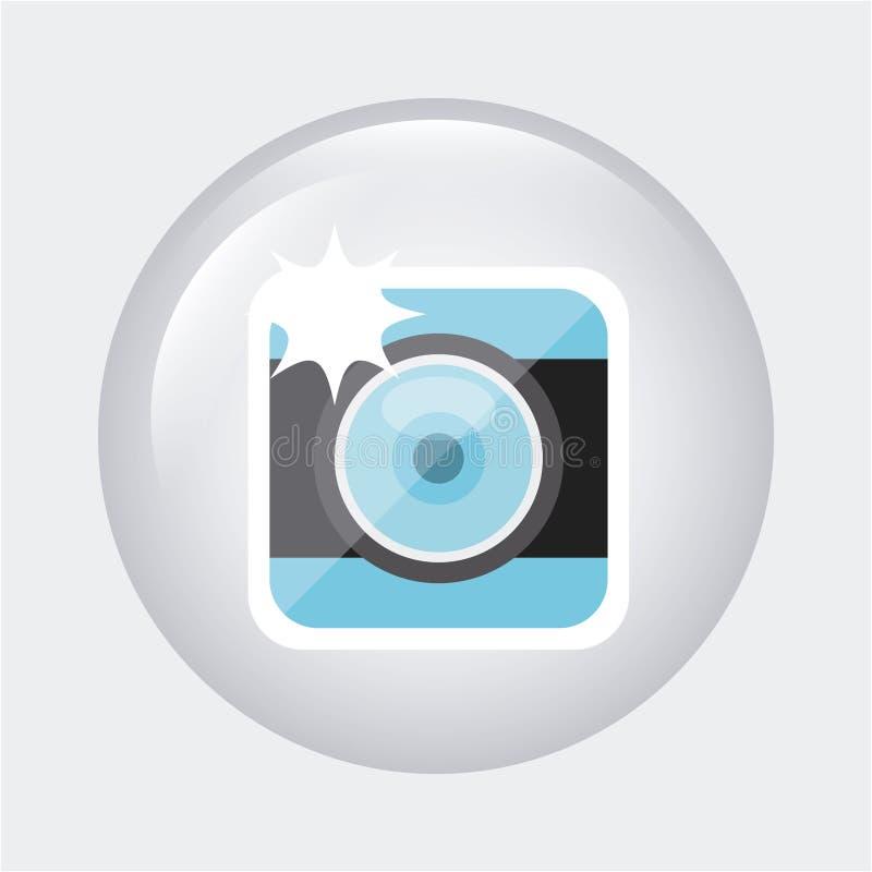 Fotografische camera vector illustratie