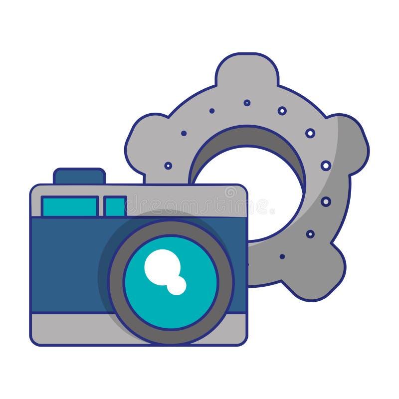 Fotografische camera en toestellen royalty-vrije illustratie