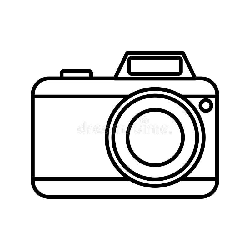 fotografische camera met flitspictogram vector illustratie