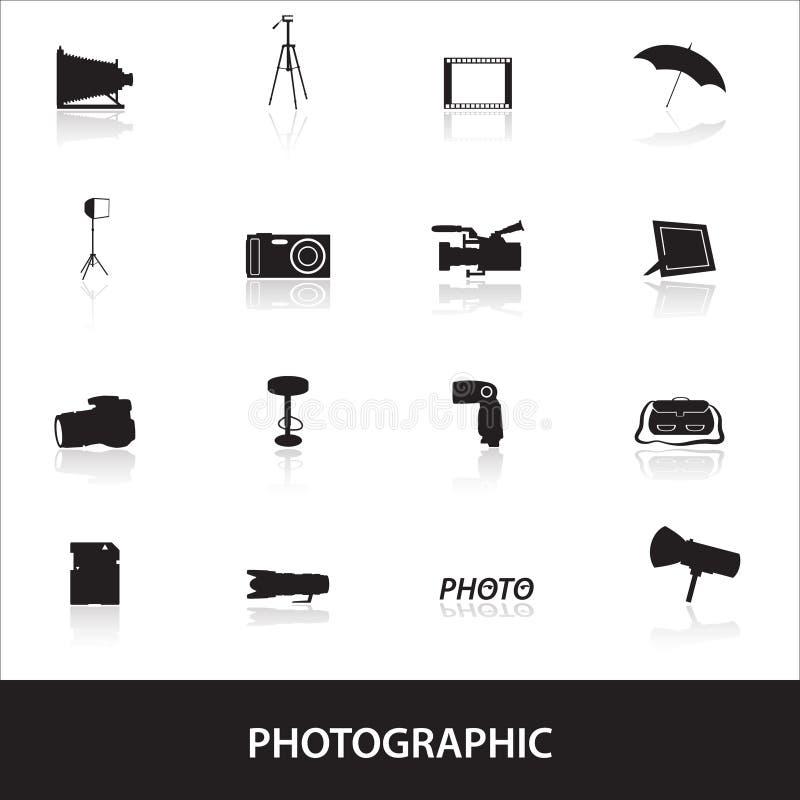 Fotografische pictogrammen eps10 royalty-vrije illustratie
