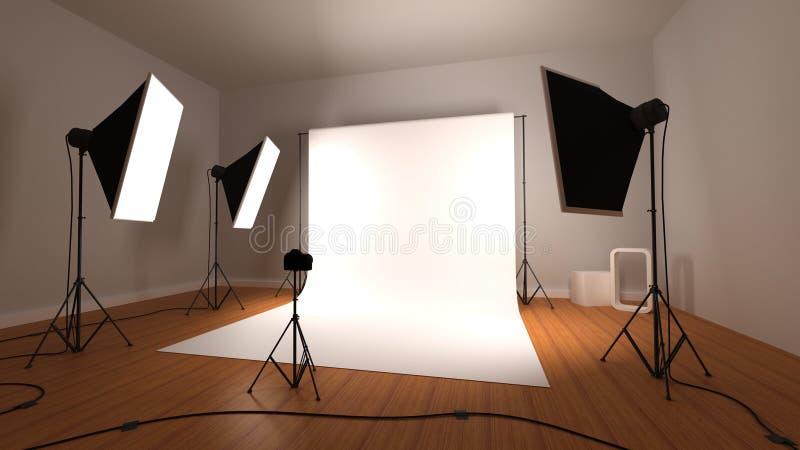 Fotografische studio royalty-vrije illustratie