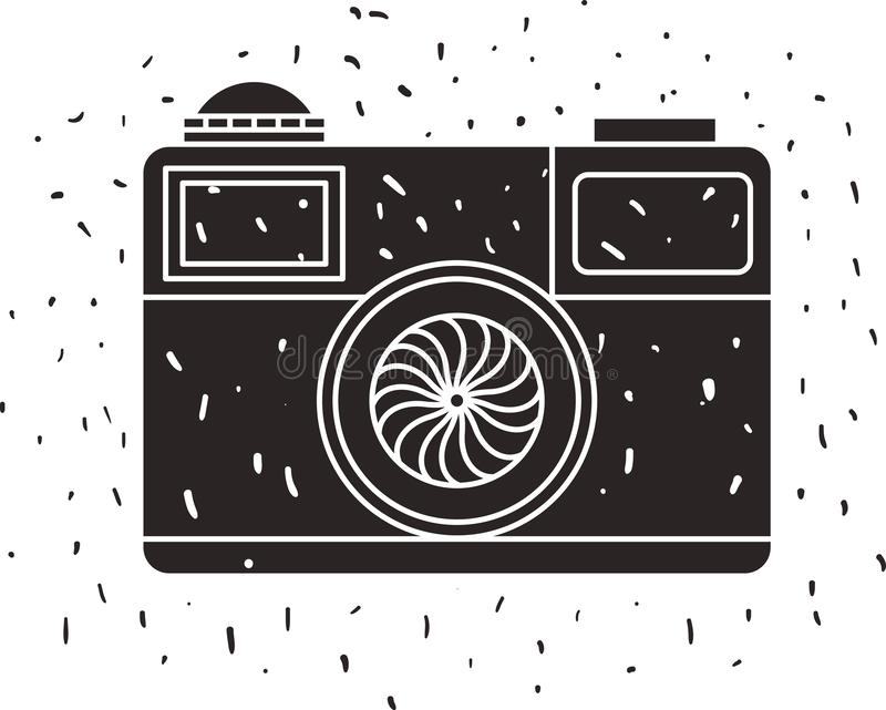 Fotografisk isolerad symbol f?r kamera royaltyfri illustrationer