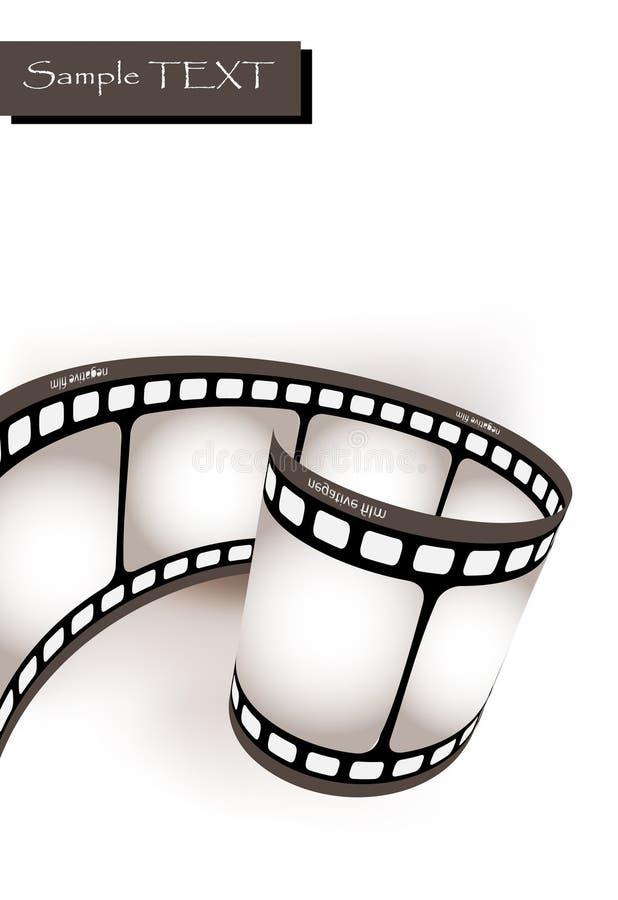 fotografisk krökt film stock illustrationer