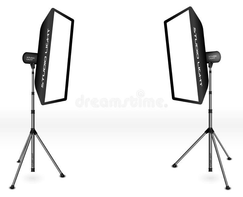 Fotografisk LIghting stock illustrationer
