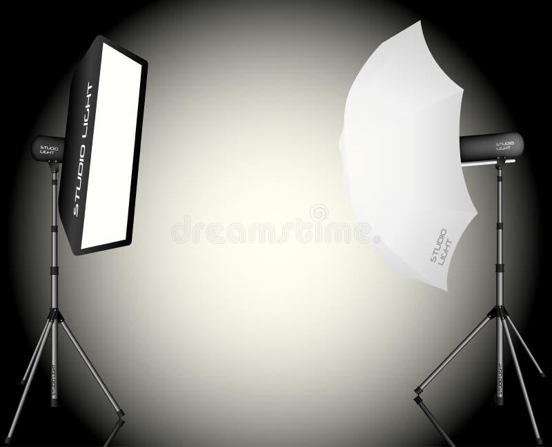 Fotografisk LIghting vektor illustrationer