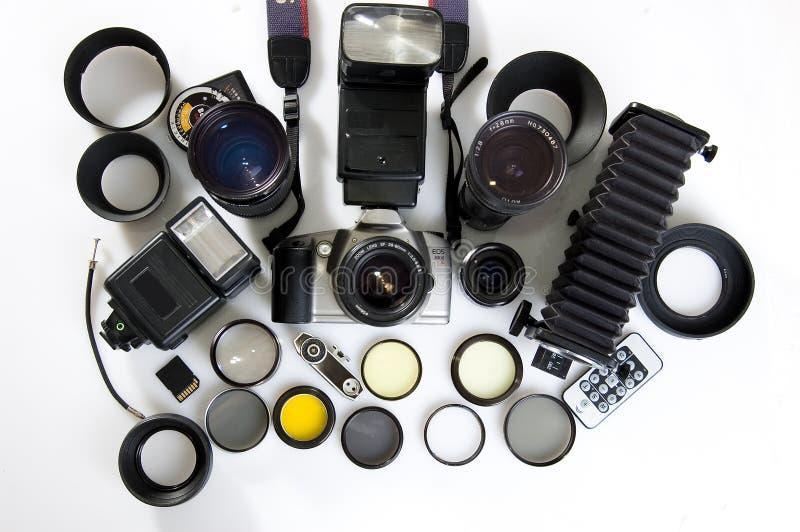 fotografisk utrustning royaltyfria bilder