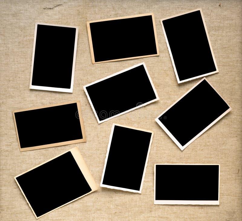 Fotografiska ramar för tappning arkivfoto