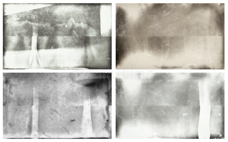Fotografiska våta plattor för Grunge  vektor illustrationer