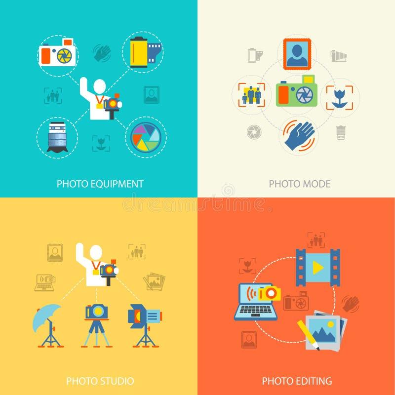 Fotografisymboler sänker royaltyfri illustrationer