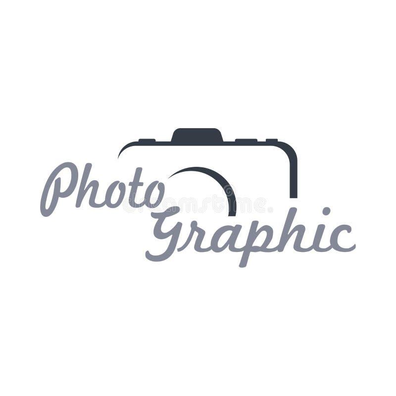 Fotografitemamall royaltyfri illustrationer
