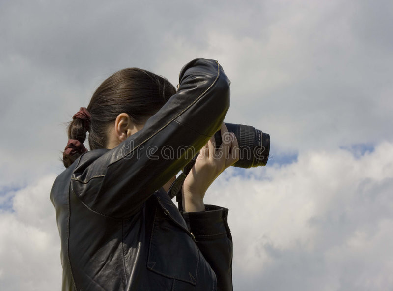 fotografkvinna royaltyfri fotografi
