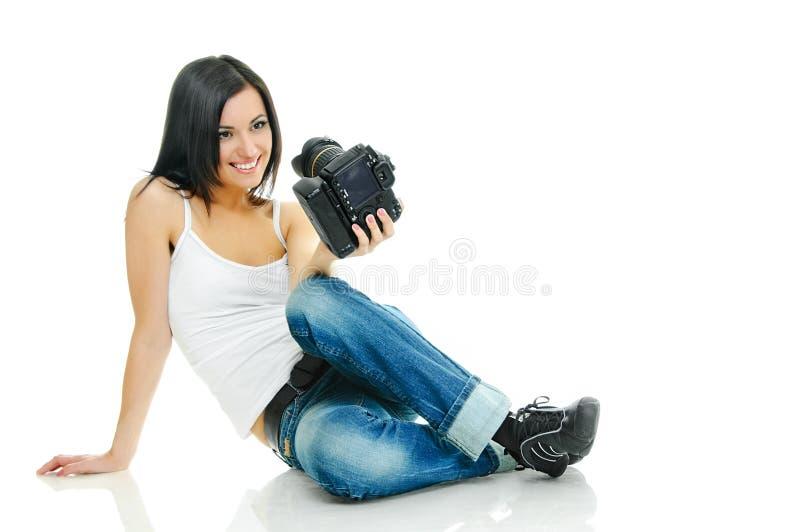 Fotografo affascinante fotografia stock