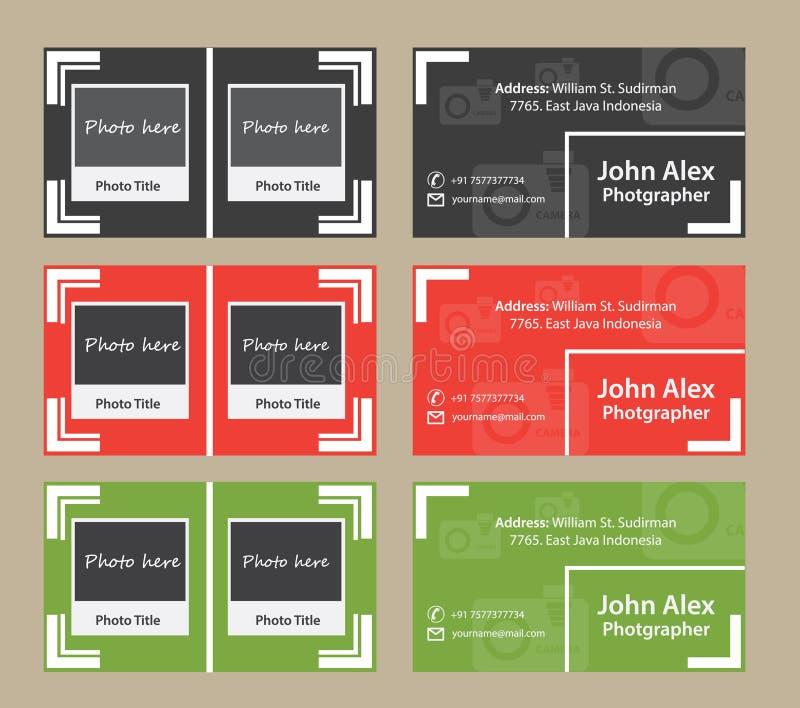 Fotografo Business Card fotografia stock