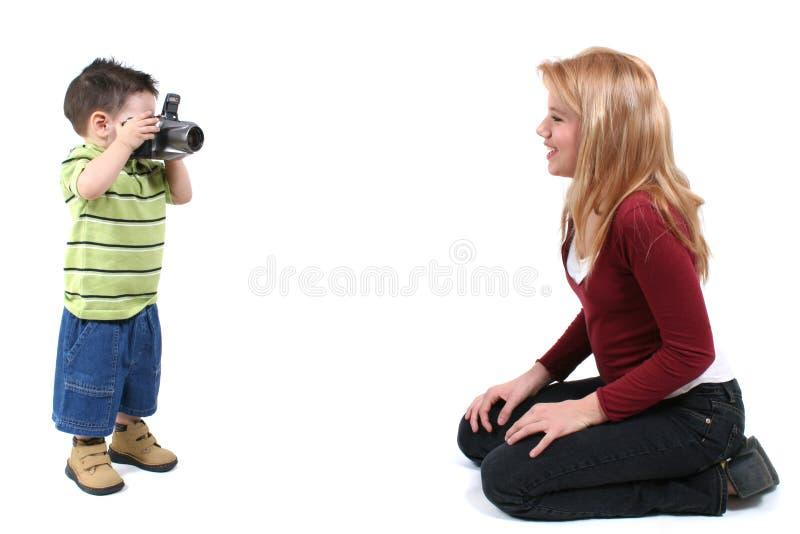 Fotografo del bambino fotografie stock
