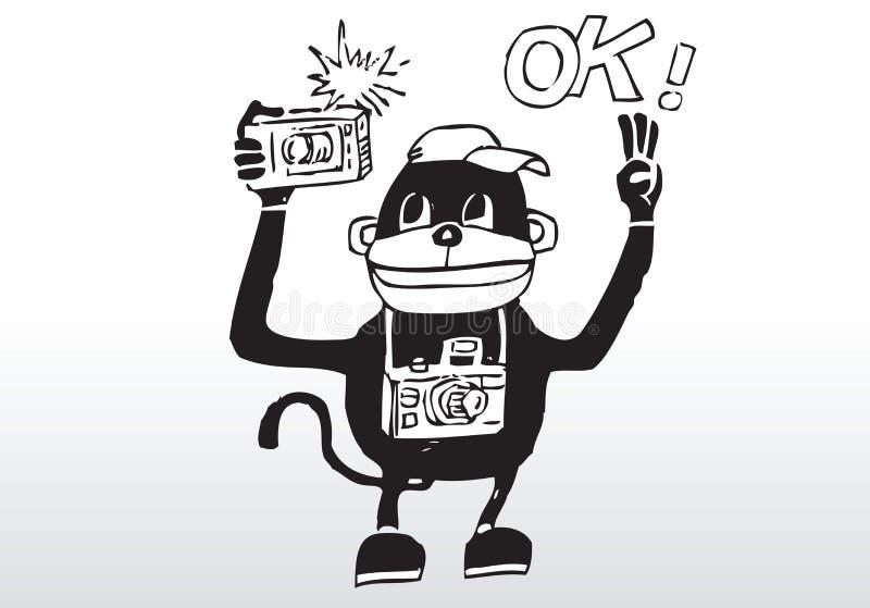 Fotografo del fumetto royalty illustrazione gratis