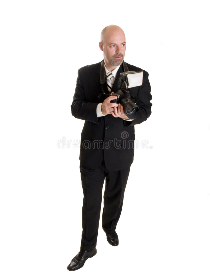 Fotografo dell'uomo d'affari fotografia stock