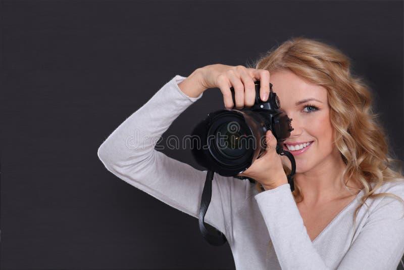 Fotografo della donna immagini stock