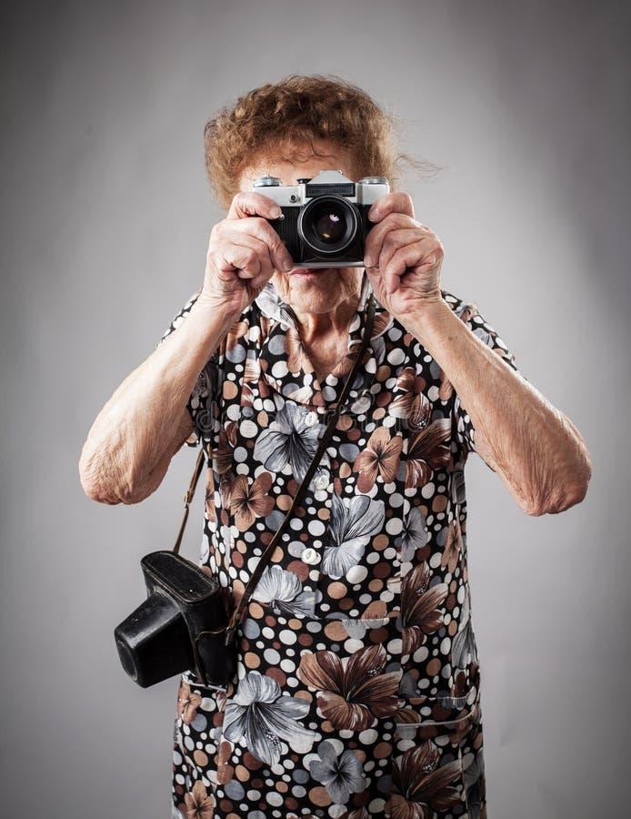 Fotografo della nonna immagine stock libera da diritti