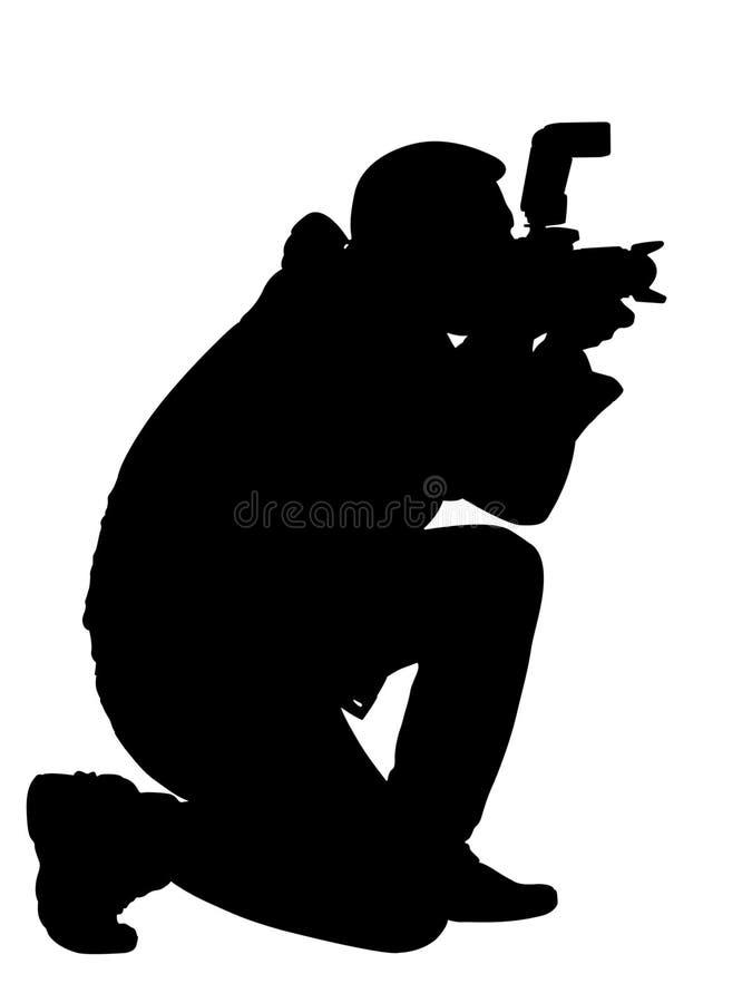 Fotografo della siluetta fotografia stock libera da diritti