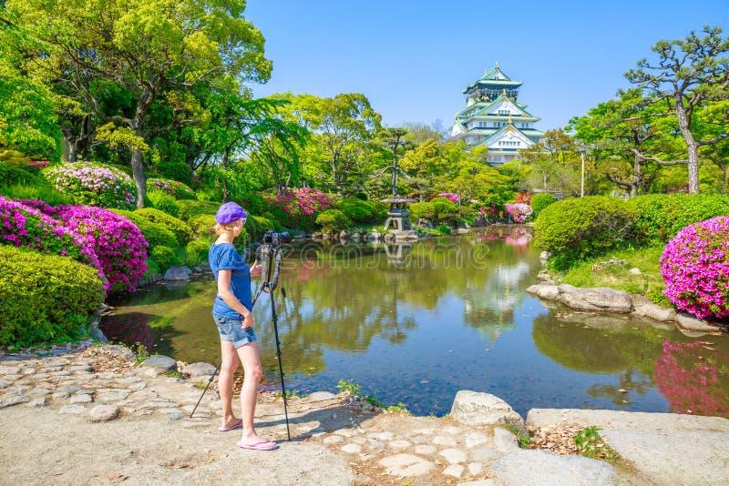 Fotografo di viaggio nel Giappone fotografie stock libere da diritti