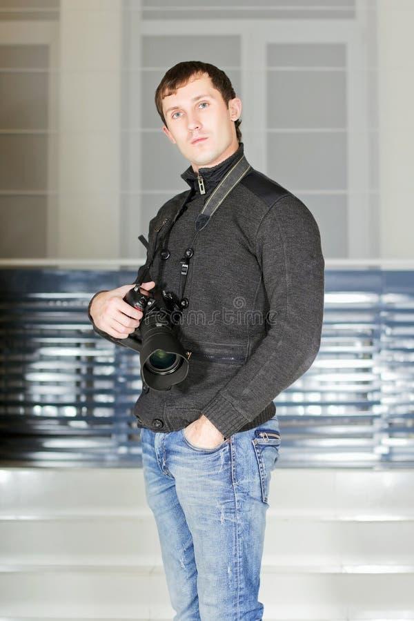 Fotografo maschio fotografia stock