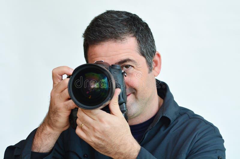 Fotografo maschio fotografia stock libera da diritti