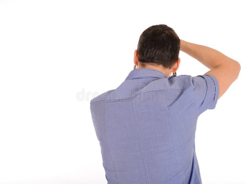 Fotografo maschio professionista dalla parte posteriore fotografia stock