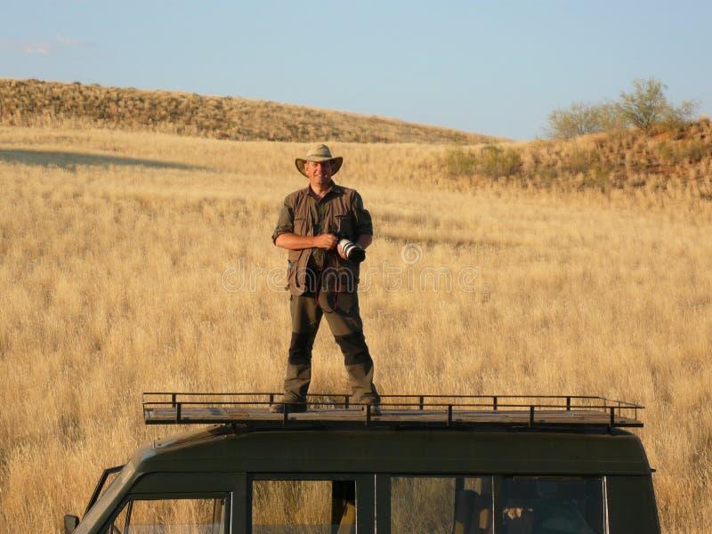 Fotografo su posizione - Namibia fotografia stock