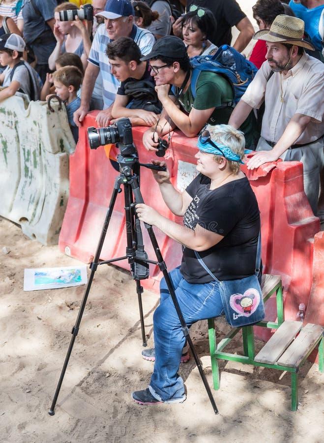 Fotograftagandevideoen av handlingen på den årliga festival`en Jerusalem adlar `, royaltyfria foton