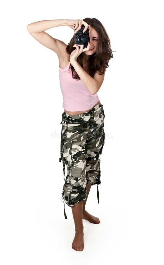 fotografujący khacy dziewczyn spodnia obrazy royalty free
