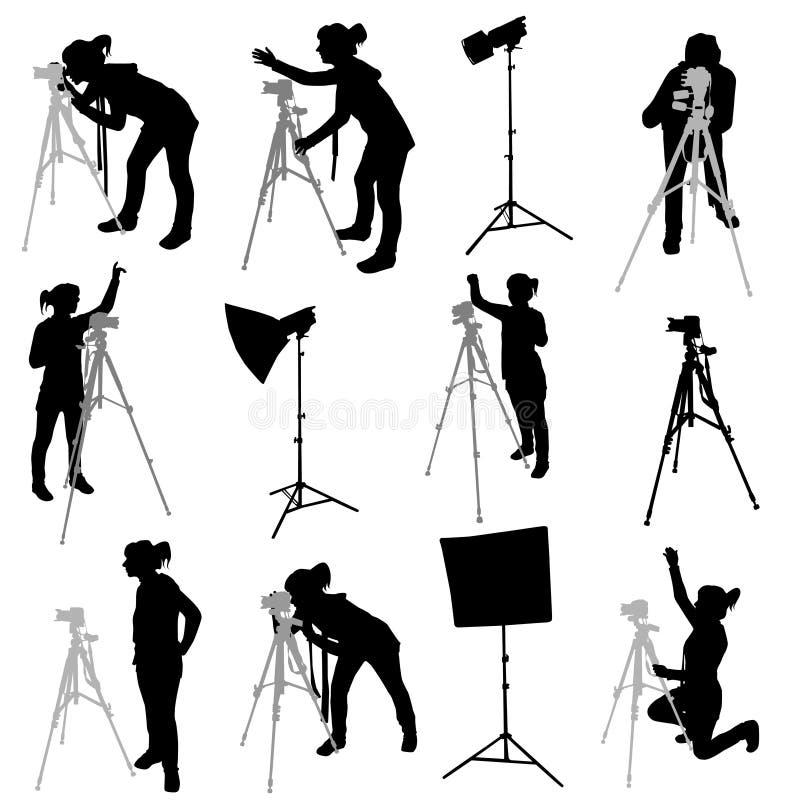 fotografvektor royaltyfri illustrationer